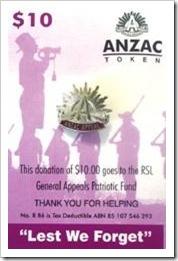 $10 ANZAC 08