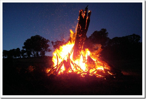 Farm Bonfire