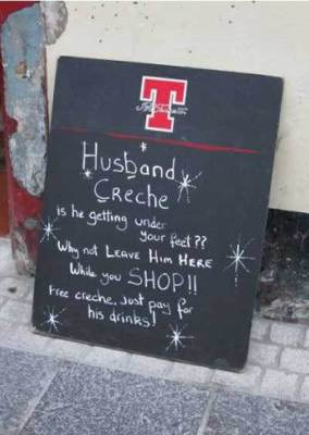 Husband Creche - by Nothing to do With Arbroath