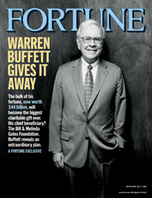 Warren Buffett - Giving It Away - Fortune Magazine Cover