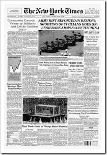 NYT-Tiananmen Front Page