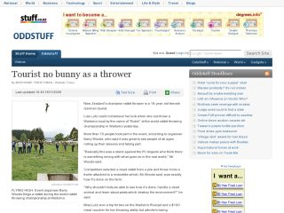 stuff.co.nz - Tourist No Bunny as a Thrower