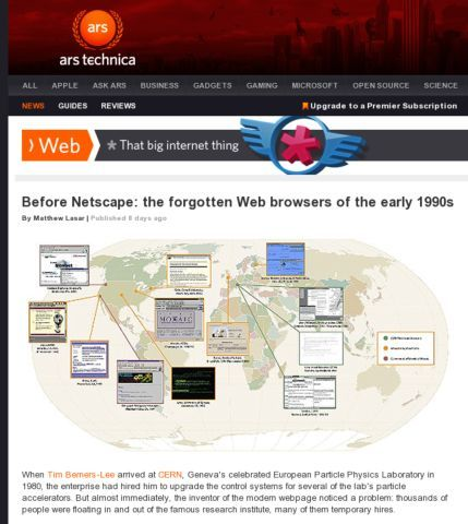 ArsTechnica - Before Netscape the forgotten browsers