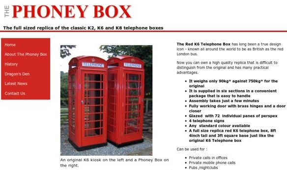 Replica Phone Boxes