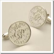sixpence cufflinks